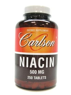 Carlson Labs Niacine, 500 mg, 250 Tablets
