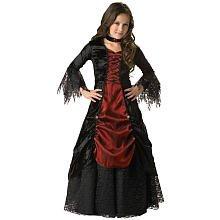 Gothic Vampiress Costumes (Fun World Gothic Vampiress Costume, Black/Red, 14)