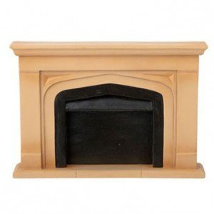 Dollhouse Resin Small Manor Fireplace Mantel