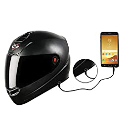 Steelbird SBA-1 7Wings HF Dashing ABS Material Shell Full Face Helmet Fitted with Clear Visor and Extra Smoke Visor and…