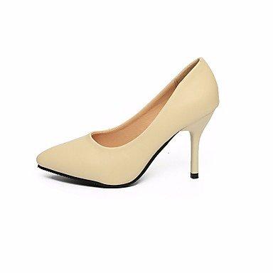 SANMULYH Frauen Schuhe 'S Schuhe Frauen Pu Frühling Sommer Basic Pumpe Heels Stiletto Heel Schuhe Für Office&Amp; Karriere Rosa Beige Schwarz Beige 2f42b7