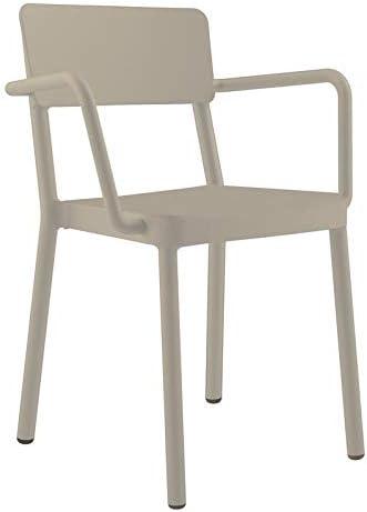 resol Set de 2 sillas con Brazos de diseño Lisboa para Interior, Exterior, jardín - Color Arena: Amazon.es: Hogar
