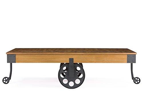 Baxton Studio Lancashire Wood and Metal Coffee Table, (Wholesale Interiors Living Room Coffee Table)