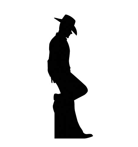 Advanced Graphics Cowboy Leaning Silhouette Life Size Cardboard Cutout Standup