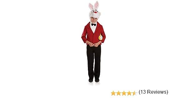 Fun Shack Rojo Conejo Blanco Disfraz para Niños - M: Amazon.es ...