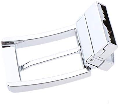 Silver Reversible Vintage Belt Buckle Single Prong Rectangle Pin Buckle