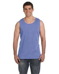 Dyed Sleeveless (Comfort Colors Ringspun Garment-Dyed Tank 3XL FLO BLUE)