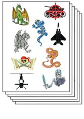 Kids Pack of 50 Sheets Temporary Tattoo