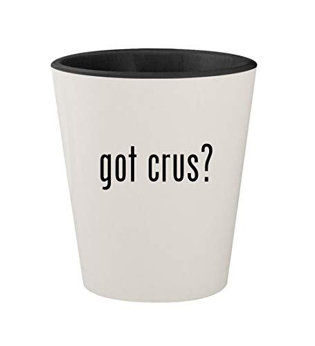 - got crus? - Ceramic White Outer & Black Inner 1.5oz Shot Glass