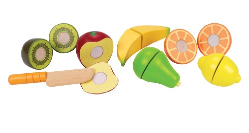 Cut Food - Hape Award Winning Fresh Fruit Wooden Kitchen Play Food Set