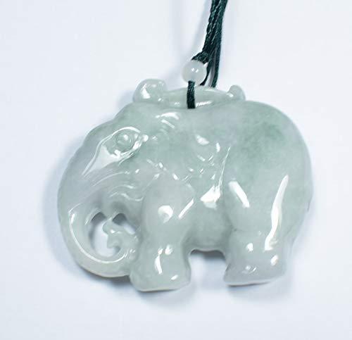 gojade Certified Green 100% Natural A Jade Jadeite Pendant Elephant 象 701716