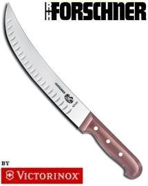 Victorinox Curved Granton Edge Cimeter Knife with Rosewood Handle (Cimeter Knife Granton Edge)