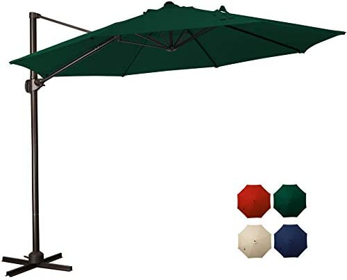 MEWAY 10 Feet Offset Cantilever Umbrella