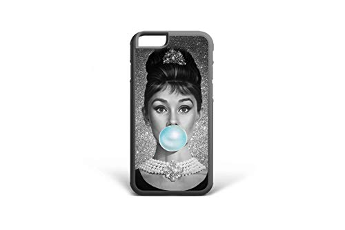 Koldan Audrey Hepburn Case iPhone 7 8 iPhone XR X iPhone 6 6S Plus Vintage XS Max 7 Plus 8 Plus Bubble Gum 5 5S SE Breakfast at Tiffany's Samsung S7 Edge Note 9 S6 Samsung S9 S8 Plus Note 8 2DaO445