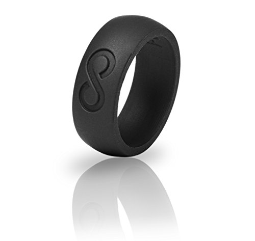 Silicone Wedding Ring – (Black, 12) Premium Quality Medical Grade Silicone Wedding Ring for the Active Lifestyle