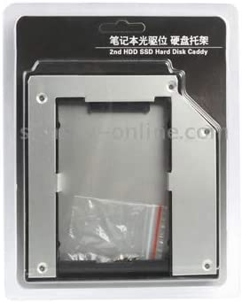 2.5 inch 2nd SATA to SATA HDD Hard Drive Caddy,Thickness 12.7mm Silver