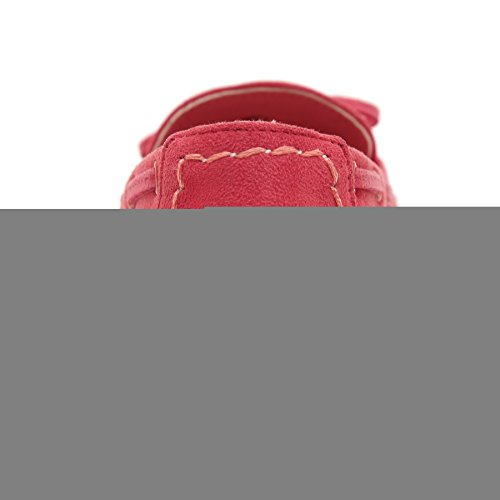 Beauty Loafer Red Women's Shoes Slip Bow Moccasin on D2C dFTqwdS