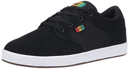 Pictures of DVS Men's Quentin Skate Shoe Black Wax Canvas 1