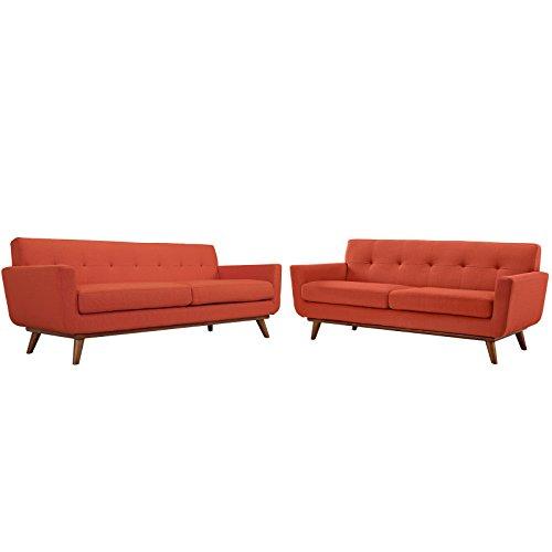 Modway Engage Mid-Century Modern Upholstered Fabric Sofa