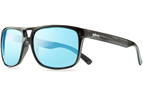 Revo Holsby Style and Performance Polarized Sunglasses, RE1019, Black Woodgrain, 58 mm by Revo