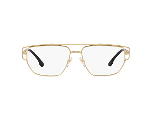 a66bc9b975 Versace VE1257 Eyeglass Frames 1410-55 - Matte Gold VE1257-1410-55