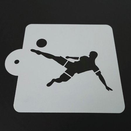 Soccer 5 x 5 Stencil - Quality Stencils from Bakell