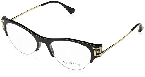 Versace VE3226B Eyeglass Frames GB1-51 - 51mm Lens Diameter Black VE3226B-GB1-51 by Versace