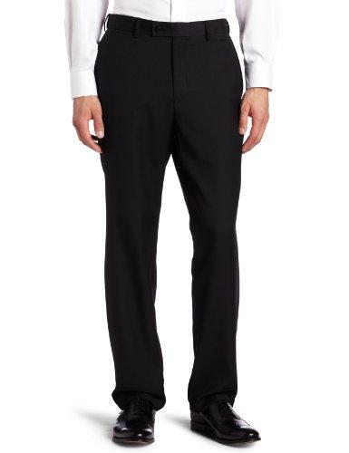 Louis Raphael ROSSO Men's Washable Wool Blend Flat Front Dress Pant, - Pants Blend Wool