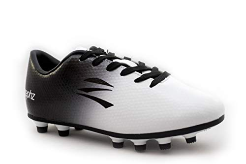 zephz Wide Traxx White/Black Soccer Cleat Adult 7