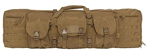 Lancer Tactical 600 Denier Polyester Double Carbine Soft Case Accessory Pouches MOLLE Webbing Secondary Gun Compartment Quick Detach Buckles Inner Storage Backpack Straps (42