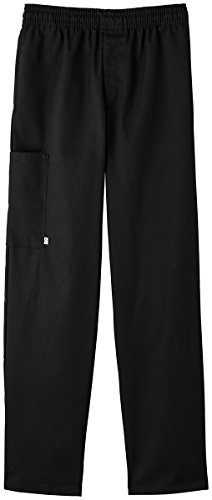 Five Star Chef Apparel Unisex Zipper Front Pant (Black, Small) by Five Star Chef Apparel