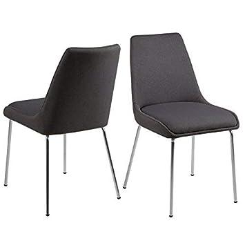 2x Sillas asilon wartezimmerstühle Set de dos sillas de comedor gris ...