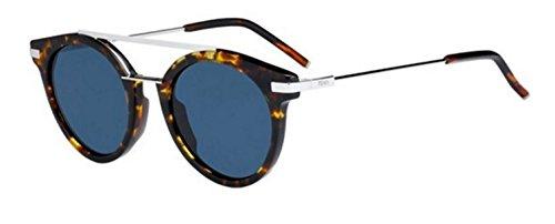 New Fendi URBAN FF 0225/S 9G0/KU Havana Palladium/Blue Sunglasses