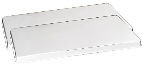 Reston Lloyd Rectangular Stove Burner Covers, Set of 2, White (4 Burner Gas Stove With Electric Oven)
