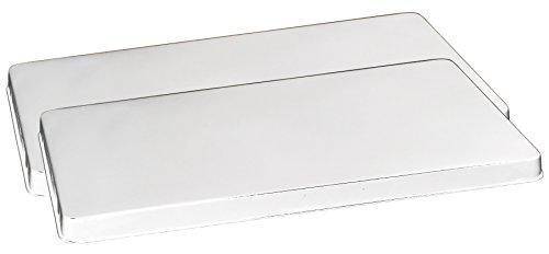 Stove Burner Cover Set - Reston Lloyd Rectangular Stove Burner Covers, Set of 2, White