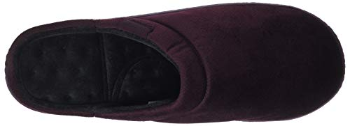 Velour Homme Bur Herringbone Rouge Mule burgundy Slipper Isotoner Pantoufles 6Oq1PP