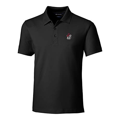 (Cutter & Buck NCAA Georgia Bulldogs Short Sleeve Tailored Fit Solid Forge Polo, XX-Large, Black)