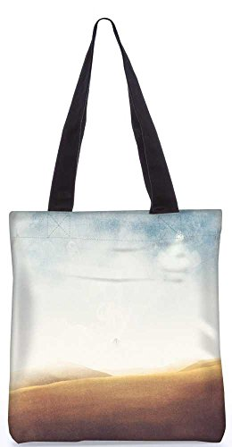 """Snoogg Wüste Vintage Einkaufstasche 13,5 X 15 In """"Shopping-Dienstprogramm Tragetasche Aus Polyester Canvas"""