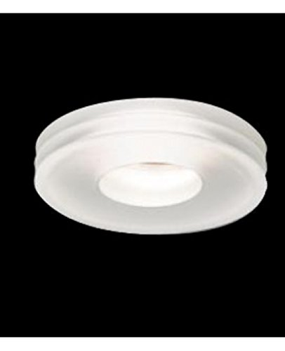 Disk recessed - clear crystal & satin white, 220 - 240V (for use in Australia, Europe, Hong Kong etc.), - Disk Leucos