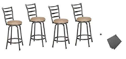 Amazon.com: Roundhill Furniture - Taburete de barra de metal ...