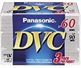 Panasonic AY-DVM60EJ3P Mini Digital Videocassette (60 Minute, 3 Pack)
