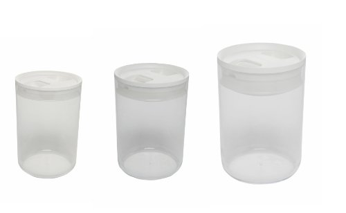 Click Clack Pantry Canister 1.0, 2.4, 4.2-Quart, Set of 3 (Click Clack Canister)