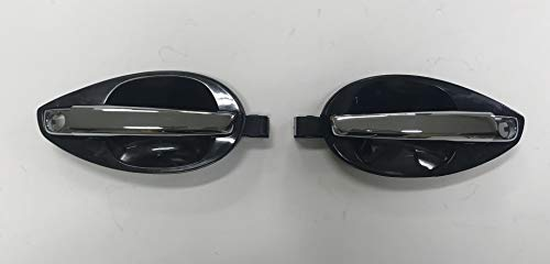 (Genuine Outside Chrome Door Handle Catch (unpainted) LH & RH Set For 2003-2008 Hyundai Tiburon Coupe (826502C010 & 826602C010) Left (Driver) & Right (Passenger))