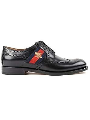 341d974eed GUCCI ITALIA - Zapatos de Cordones de Cuero para Hombre Negro Negro ...