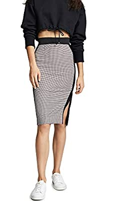 Boutique Moschino Women's Two Tone Plaid Skirt