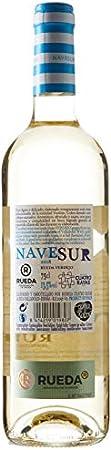 Nave Sur Verdejo Vino Blanco D. O Rueda - 6 Botellas de 750 ml (Total 4.5 L) BODEGA CUATRO RAYAS