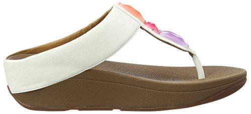 Fitflop Sweetie Toe-post - Sandalias para Mujer Blanco  (Urban White 194)