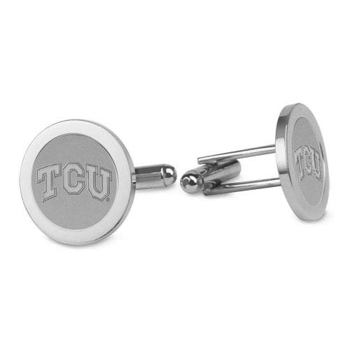CSI Cannon Sports TCU Horned Frogs Silver Cufflinks - Horned Cufflinks Tcu Frog