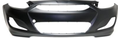 Front Plastic Primed Bumper Cover for 2014-2016 Hyundai Accent HY1000201 ()
