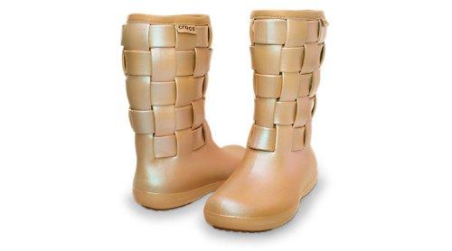 Crocs - - Mujeres SuperMolded Iri Weave Boot W Zapatos Verde